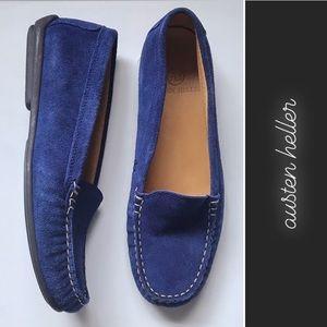 Austen Heller Blue Suede Loafers • 8
